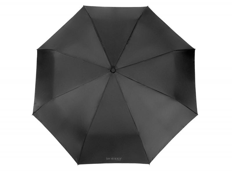Зонт-крюк мужской полуавтомат, 3 сложения.