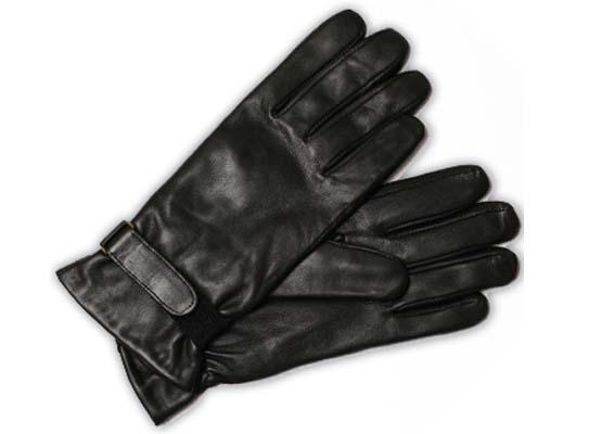 Мужские (кожаные) лайковые перчатки с подкладкой из флиса.